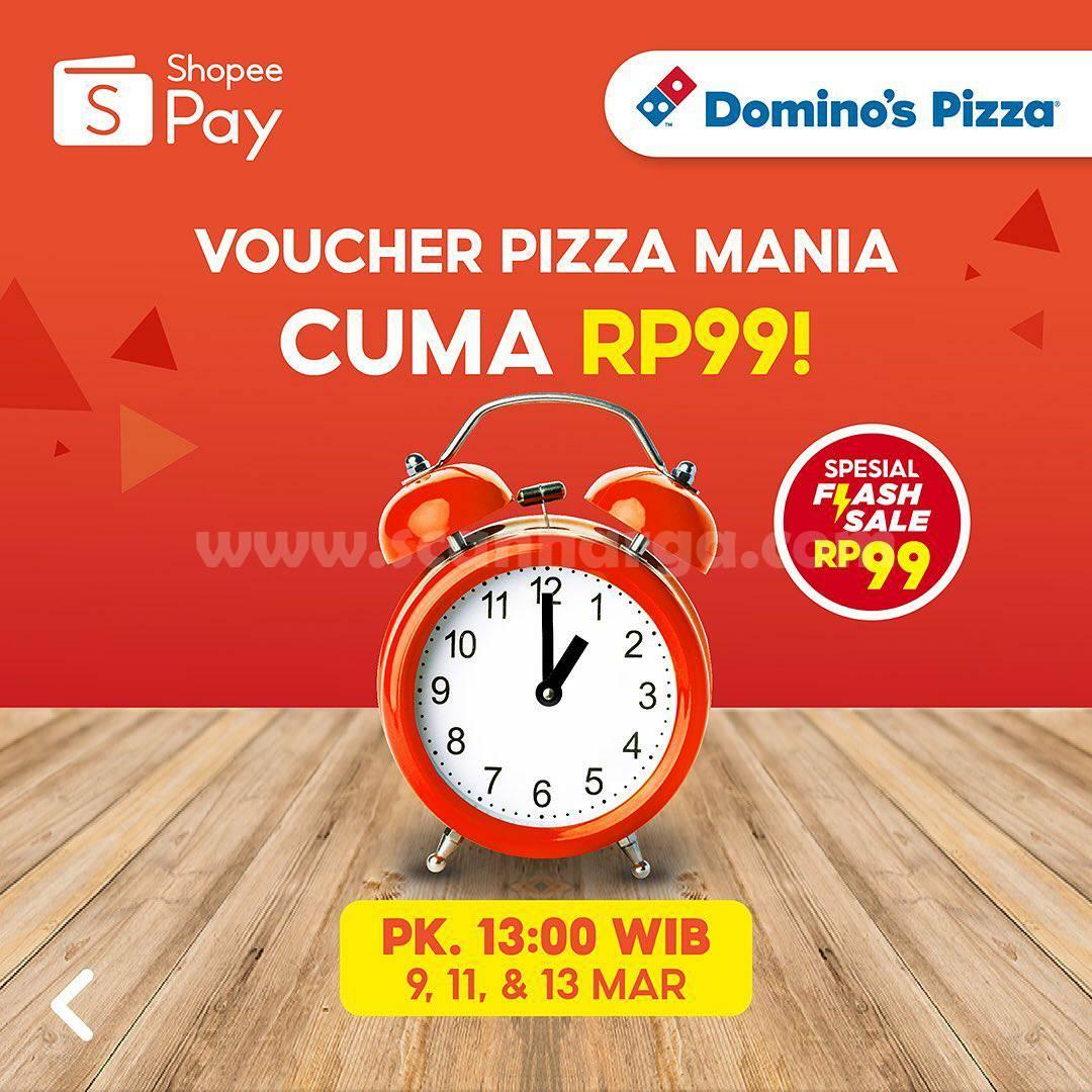 DOMINO'S PIZZA Promo Voucher Diskon ShopeePay! Pizza Mania hanya Rp 1.000,-