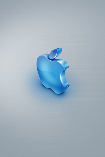 Blue Apple iPhone Wallpaper By TipTechNews.com