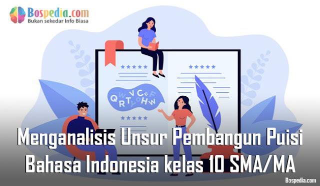 Materi Menganalisis Unsur Pembangun Puisi Mapel Bahasa Indonesia kelas 10 SMA/MA