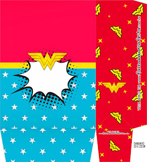 Wonder Woman Party Free Printable Boxes.