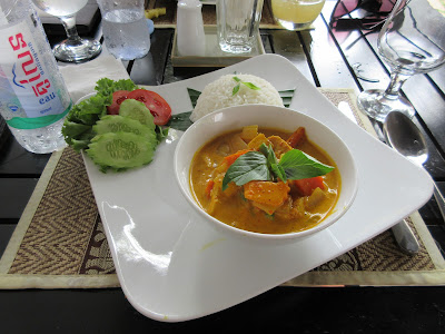 Khmer Curry made at a cooking class at Suorkear Boutique Hotel and Spa in Siem Reap, Cambodia