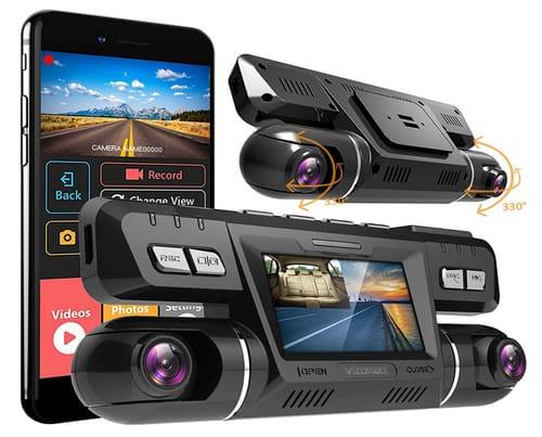 VIZOMAOI FHD Front and Cabin Dash cam Camera