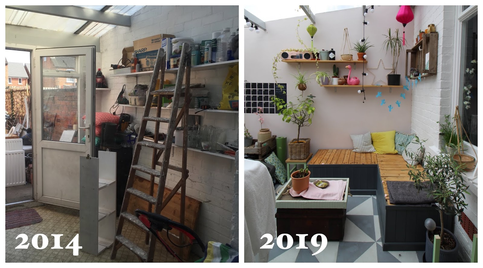 conservatory renovation before and after 5 years