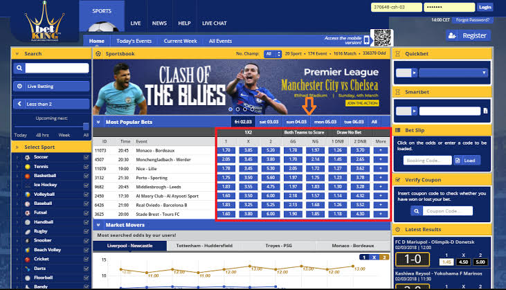 How to place a bet on betking betting stats soccer ball