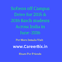 Softeon off Campus Drive for 2015 & 2016 Batch students Across India in June-2016