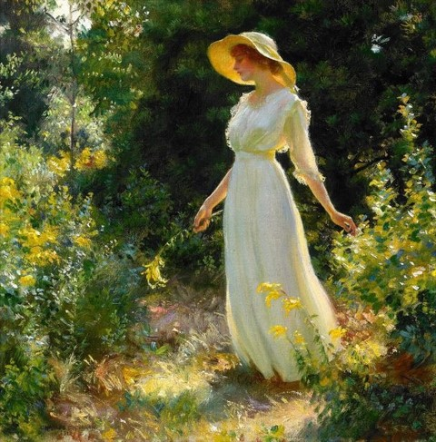 A Spray of Goldenrod – Charles Courtney Curran -1916