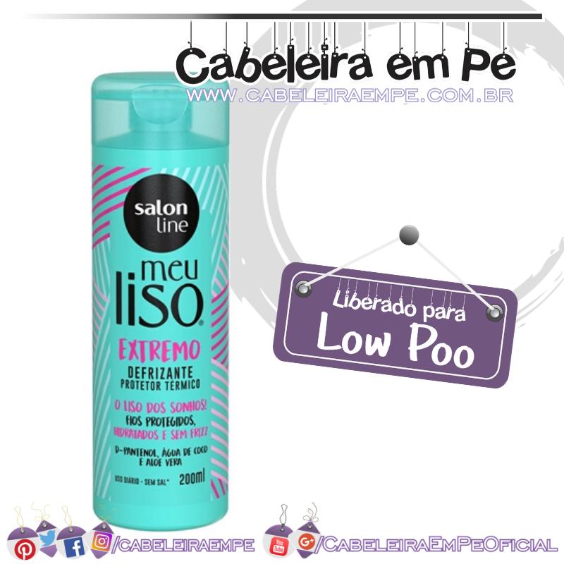 Defrizante térmico Meu Liso Extremo - Salon Line (Low Poo)