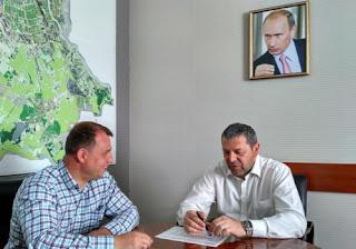 Сергей Вострецов на встрече с Дмитрием Чернейко