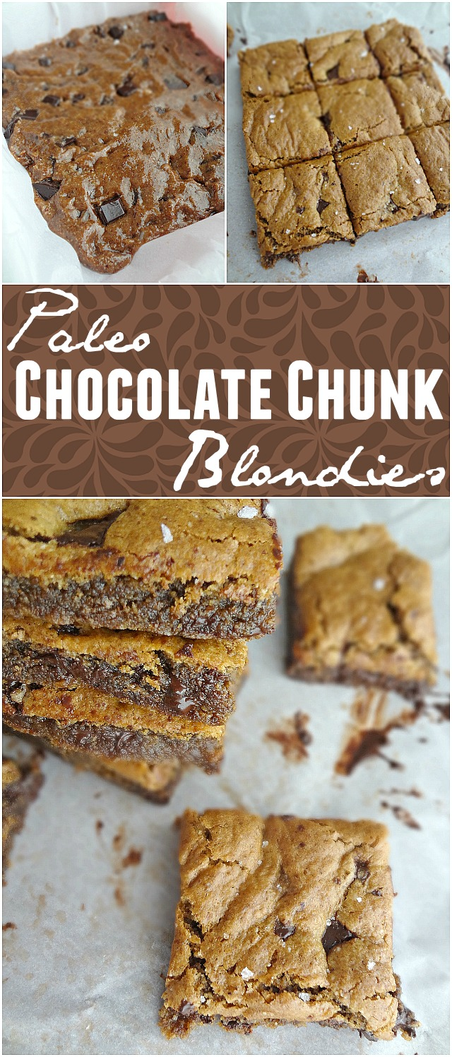 Paleo Chocolate Chunk Blondies