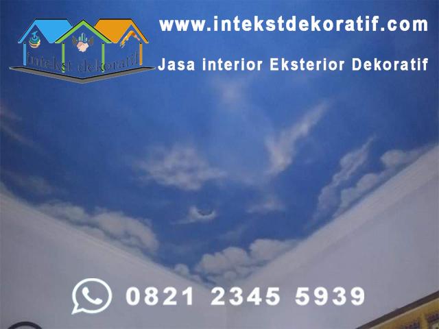 Jasa Cat Plafon Motif Awan Jabodetabek & Bandung