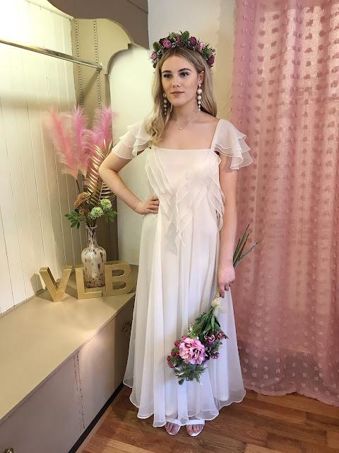 Floaty boho wedding dress