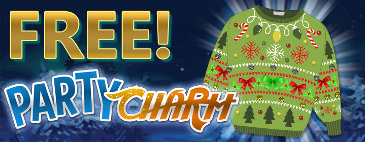 Free Ugly Sweater Charm on Vegas World