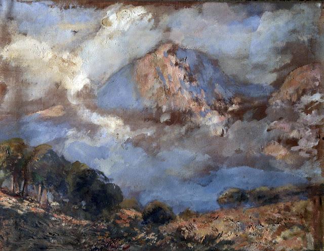 José Nogue Masso,  La Mota de Beñalbúfar, Mallorca en Pintura, Mallorca pintada, Paisajes de Mallorca
