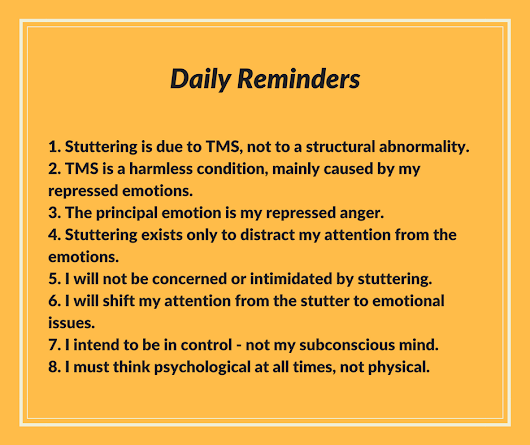 The Daily Reminders in mindbody therapy for stuttering