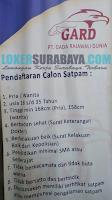 Loker Surabaya Terbaru di PT. Gada Rajawali Dunia Juli 2019