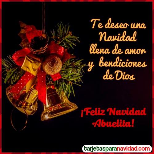 tarjetas para dedicar de navidad abuelita