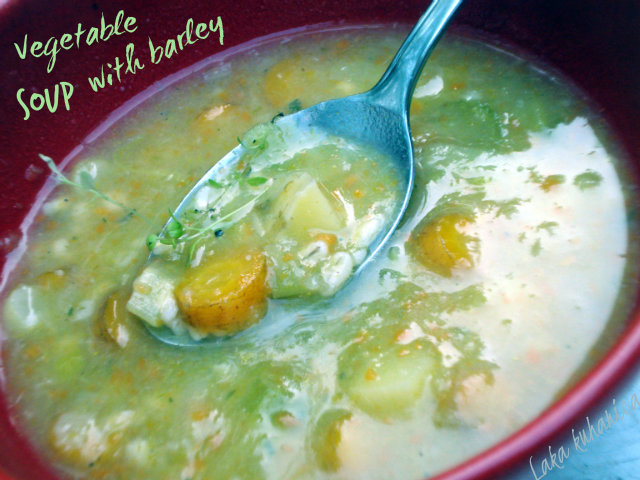 Vegetable soup with barley by Laka kuharica: pearl barley makes this soup additionally healthy and filling.