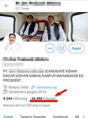 Profilo su Twitter che non ho mai deciso di seguire: politico indiano
