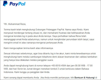 cara menghubungi cs paypal lewat email