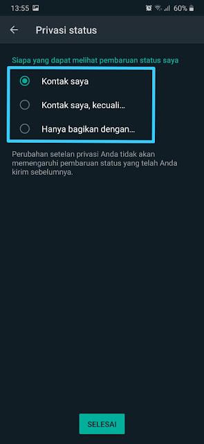 Cara Menyembunyikan Status Whatsapp 11