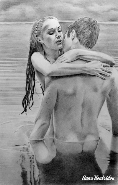 20 Mind-Blowing Pencil Drawings By Greek Artist That Illustrate The Beauty Of Love - I am all yours love