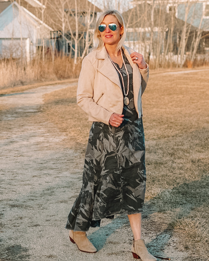 how to wear camo for spring