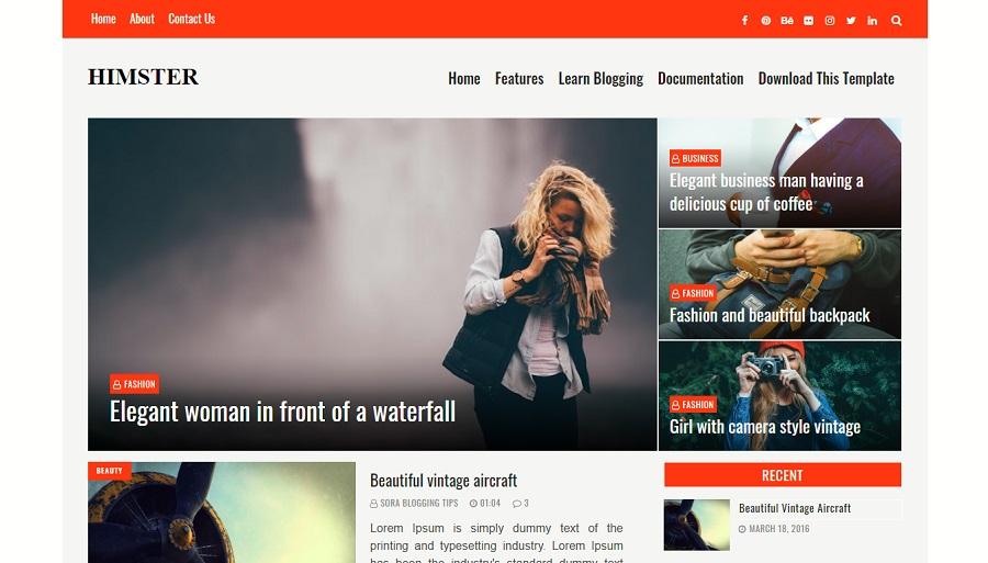 Himster - Responsive Blogger Template