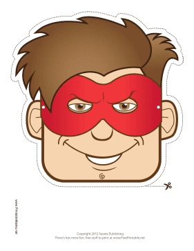 Free Printable Superheroe Mask.