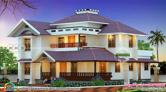 Awesome 4 BHK 2650 square feet Kerala home