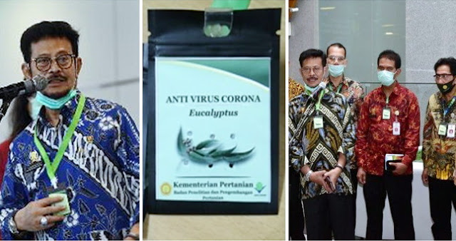 Sukses Bikin Heboh Warganet, Menteri Amran Perkenalkan Kalung Anti Corona, Dibantah Profesor Kimia Begini