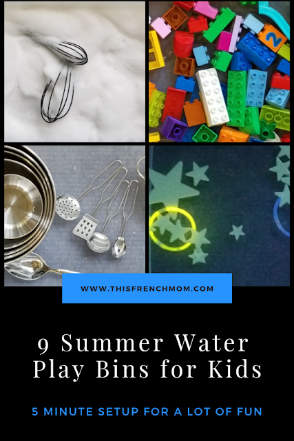 Fun water play activities for kids - 5 minutes setup for your baby, toddler or preschooler