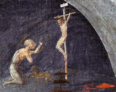 Il particolare della Tebaide riguardante San Gerolamo