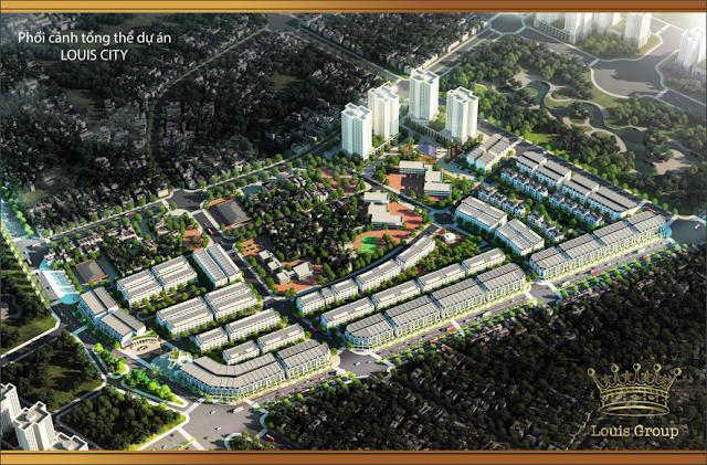 Phối cảnh dự án Louis City Tân Mai