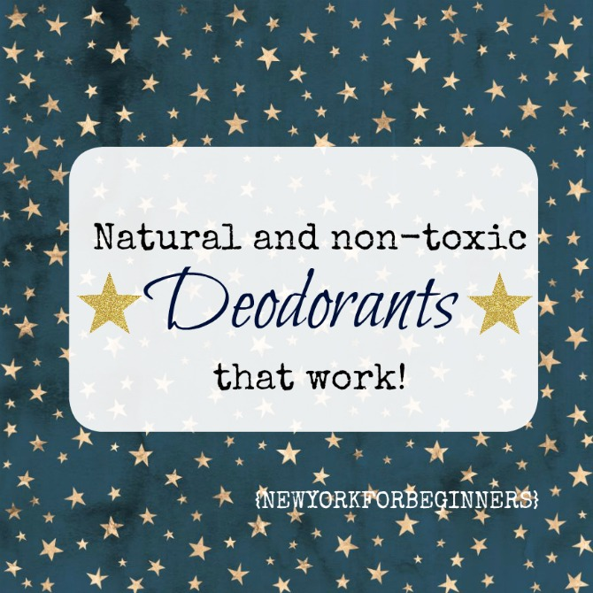 Natural and nontoxic deodorant review New York For Beginners