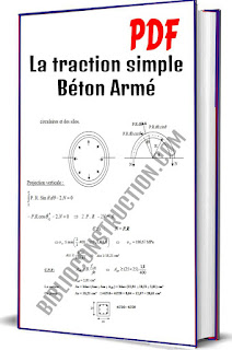 La traction simple Béton Armé PDF, Définition, Tirants rectilignes, Tirants circulaires, Détermination des armatures, Condition de non-fragilité, E.L.U, E.L.S, Armatures transversales, Application