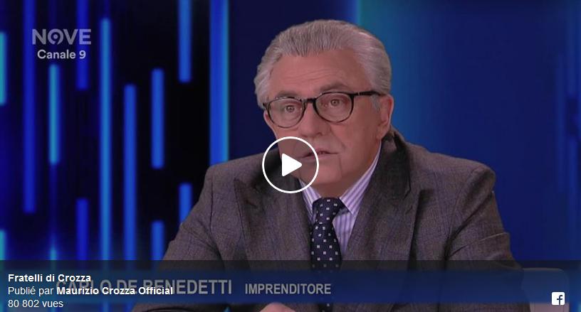 Anticipazioni Fratelli di Crozza: Maurizio Crozza imita Carlo De Benedetti in un Video Facebook