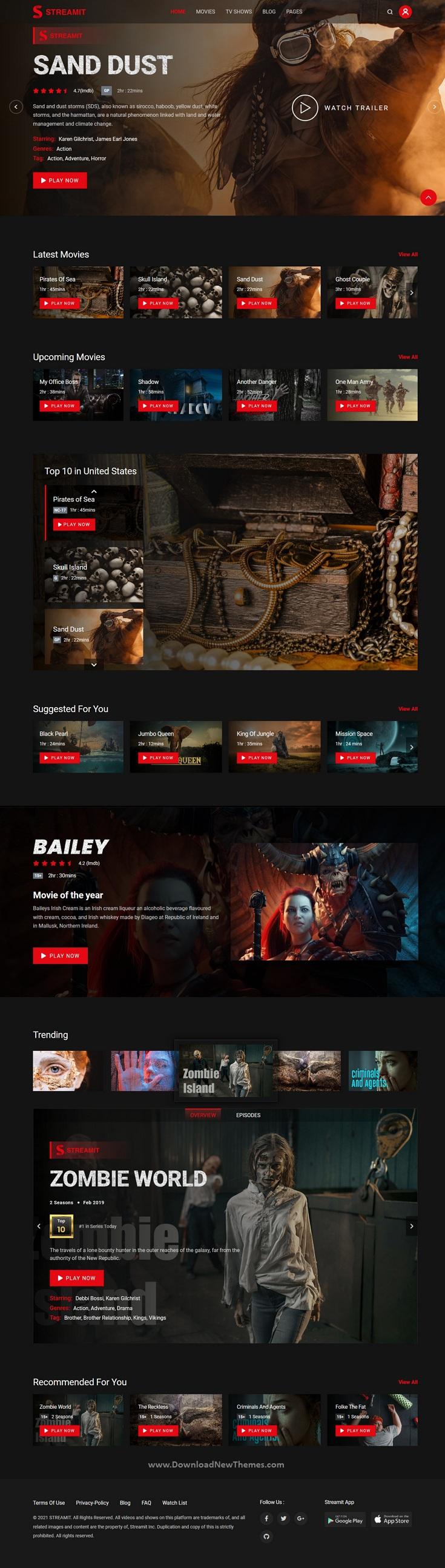 Video Streaming Premium WordPress Theme