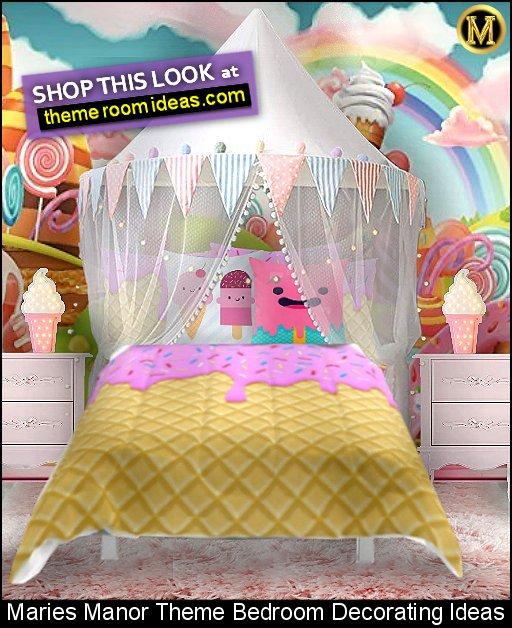 ice cream bedding Strawberry Ice Cream bedding ice cream decor candy bedroom decor  candy land wallpaper mural