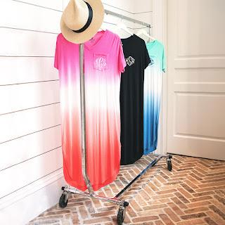 Monogrammed Midi Dress
