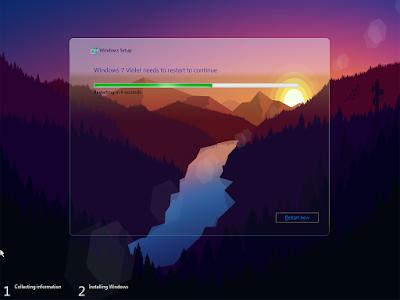 Windows 7 Violet x64 Lite August 2017 - KIRK