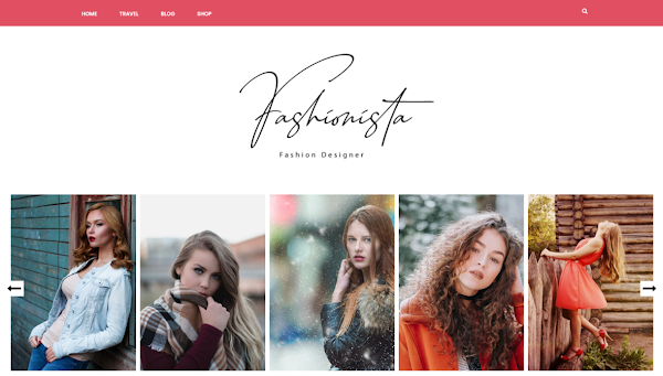 Fashionista Responsive Fashion/Personal Blogger Template