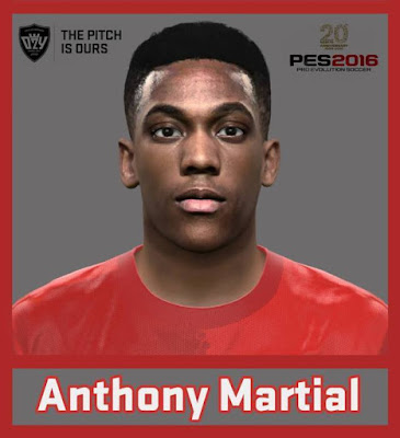 PES 2016 Anthony Martial New Face