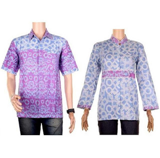 model baju batik couple pesta elegan