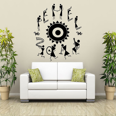 Inspiring Warli dance wall decal