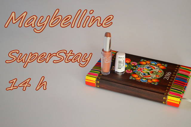 Brąz na ustach ! Maybelline, SuperStay 14h - Recenzja