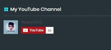 Dunia Tonang - Membuat Tombol Subscribe Youtube Ada Jumlah Subscriber nya di Blog