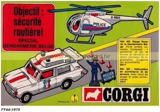 Corgi Toys, publicités pour l'année 1975