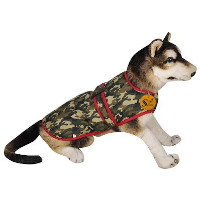 Dog Winter Ultra Warm Camouflage Army Coat.