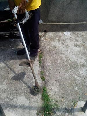 стрижет траву