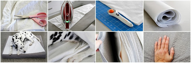 Step-by-Step how to make a custom no-sew bed liner pad for dogs